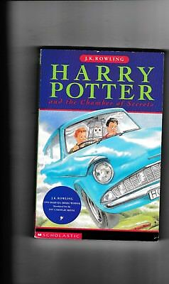 HARRY POTTER and the Chamber of Secrets---J. K. ROWLING---pb---Scholatic-1st1998