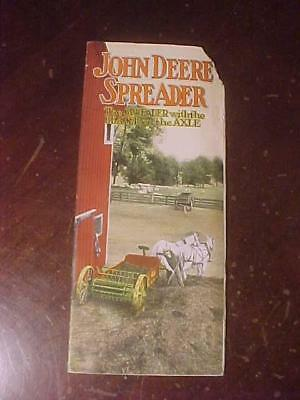 1917 John Deere Spreader With Beater on Axle 12 Page Brochure