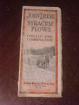 1920 John Deere Syracuse Plows Chilled and Combination 32 Page Brochure