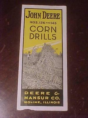 1917 John Deere #126 and 145 Corn Drills 4 Page Brochure