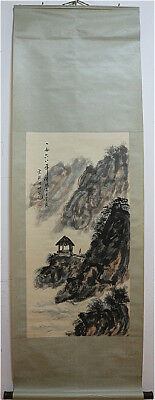 Excellent Chinese 100% Hand Painting & Scroll Landscape By Fu Baoshi 傅抱石 LDDZ369