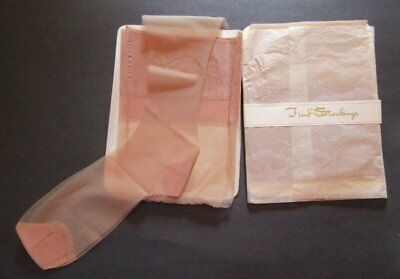 3 Pair Vintage Nylon Mesh Stockings Size 11/35 Nos