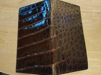 Vintage Alligator Checkbook,  New never used, sample, 1950's?