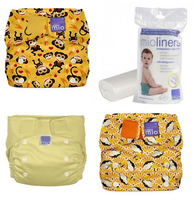 New Bambino Mio Miosolo All-in-one Nappy 3 Pack Bundle Plus Liners Free Express