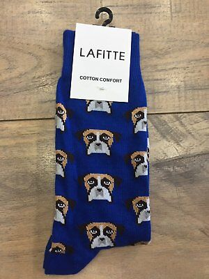 NEW Lafitte LAFITTE BOXER NOVELTY SOCKS ROYAL BUY 2 GET 1 FREE !