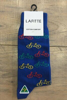 NEW Lafitte LAFITTE BICYCLE NOVELTY SOCKS ROYAL BUY 2 GET 1 FREE !