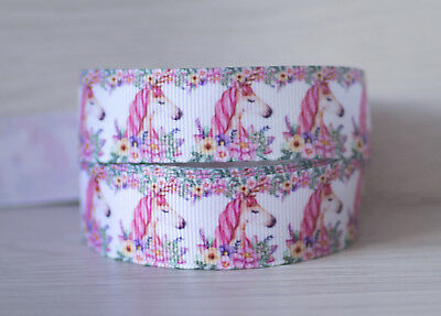 1M X 22 mm Grosgrain Ribbon Craft DIY Decoration Bow - Lady Unicorn