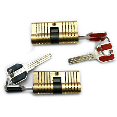 Double Cutaway Inside Side View Locksmith Professional Practice Lock +2 Keys LY