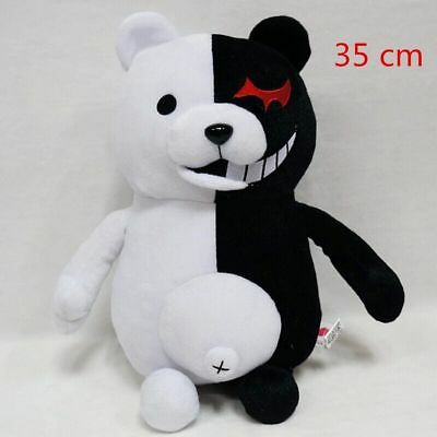 Dangan Ronpa Super Danganronpa 2 Mono Kuma Black&White Bear Toy Plush Doll 35cm