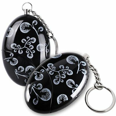 120db Personal Alarm Keychain Emergency Safety Self Defense With Battery Black