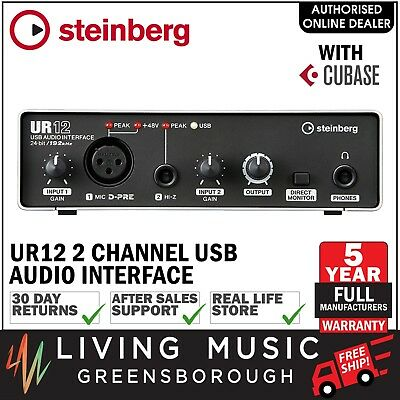 NEW Steinberg UR12 2 Channel USB Audio Interface w/ Cubase AI