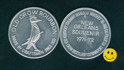 OLD CROW Bourbon Wiskey Advertising Doubloon Token 1971-72