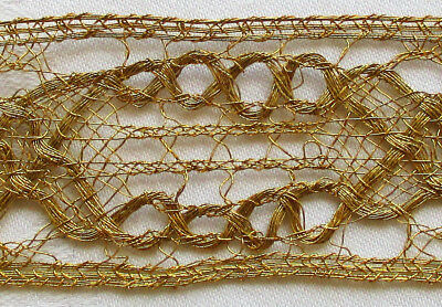 Beautiful Gold Metallic Lace Trim Nice Weave  French