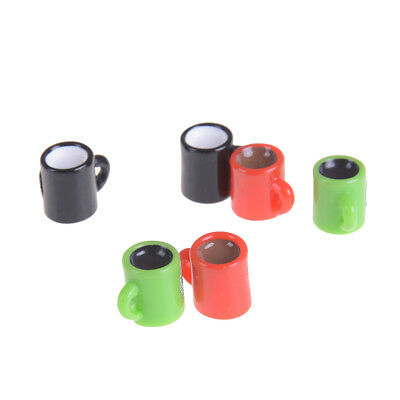 6pcs Mini Coffee Cup Miniature Dollhouse Food Drink Home Tableware Decors JKCA