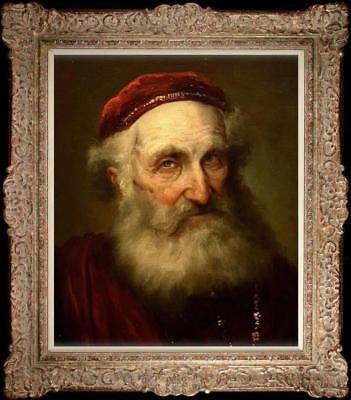 """Old Master-Art Antique Oil Painting Portraits old man on canvas 20""""x24"""""""