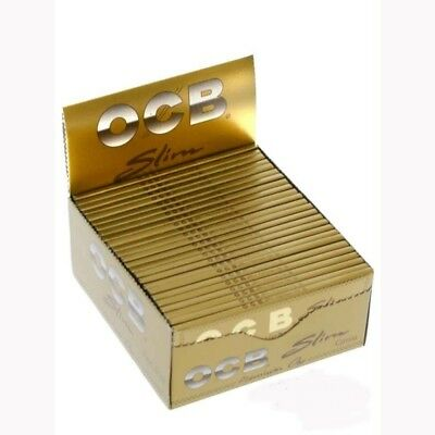 Cartine Ocb Premium Oro Gold King Size Lunghe Slim - Box Da 50 Libretti