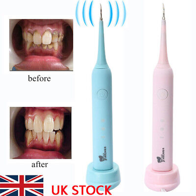 Ultrasonic Dental Scaler Handpiece Cleaning Tartar Stains Remover Tooth Portable