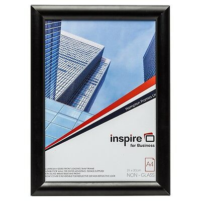Black A4 (21x29.7cm) Snap Frame Clip Poster Display Retail Wall Notice Frame