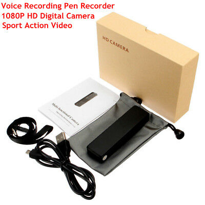 MD12 1080P HD Digital Sport Action Camera Video Voice Recording Pen Recorder Car