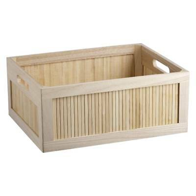 NEW Bamboo Panel Wood Crate By Spotlight