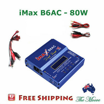 iMax B6AC 80W 6A RC Lipo Lithium NiMh Digital Battery Balance Charger Discharger