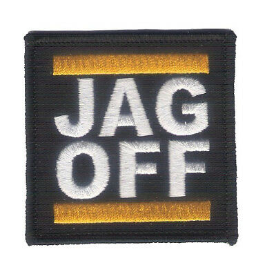 "Wax Back New 2 1/2"" X 2 1/2"" JAG OFF Embroidered Patch - Harley - Pittsburgh USA"