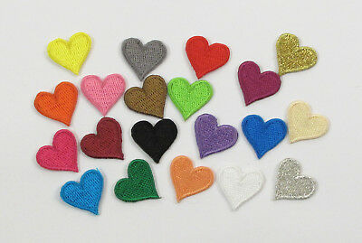 SMALL HEART  Embroidered Iron On Sew On Patch Crafts