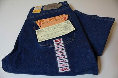 LEVI'S 501 BUTTON FLY BLUE JEANS W32 L32 - made in USA
