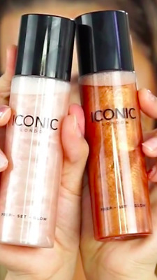 New Iconic London Pre Set Glow Face Hyped Highlighter Vegan Pick 1 Authentic !