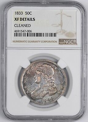 1833 Capped Bust Silver Half Dollar 50C - NGC XF Details -