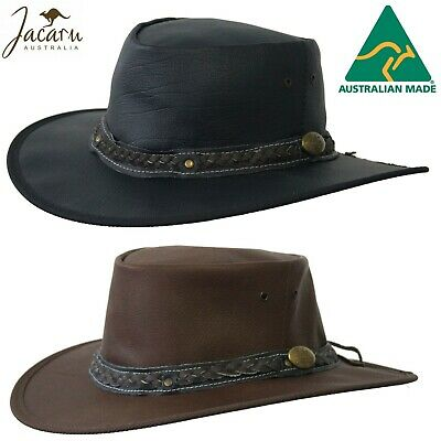 JACARU Roo Nomad Kangaroo Leather Hat Crushable Foldable Water Resistant Squashy