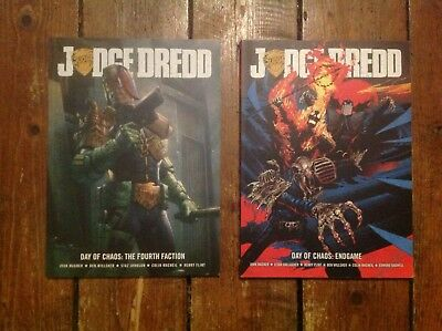 2000AD Judge Dredd Day of Chaos. 2 x Graphic Novel. Endgame & The Fourth Faction