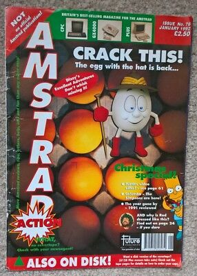 Amstrad Action Magazine Issue 76, January 1992