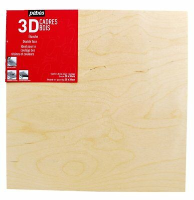 Pebeo Wooden Liquid Paint & Resin Pouring Surface Board  Art Panel - 30 x 30cm