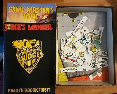 Judge Dredd Boardgame and Roleplaying Game Bundle 1980s