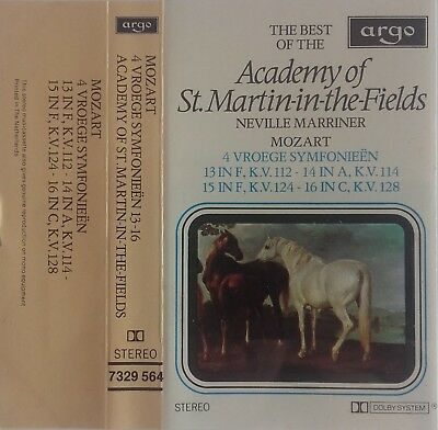Cassette Mozart Academy Of St-Martin-in-the-Fields N. Marriner‎ Early Symphonies
