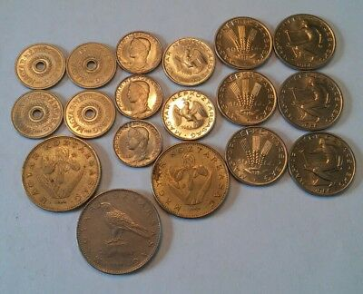 Hungary Lot Of 18 Coins 2, 5, 10, 20, 50 Filler, 20, 50 Forint 1966-1995