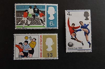 GB MNH STAMP SET 1966 World Cup Football (phosphor) SG 693p-695p UMM
