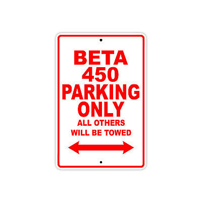 TC Parking Only Towed Motorcycle Bike Decor Notice Novelty Aluminum Metal Sign
