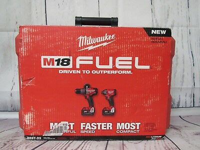 Milwaukee 2897-22 M18 FUEL REDLITHIUM XC5.0 2-Tool Combo Kit-Brand New