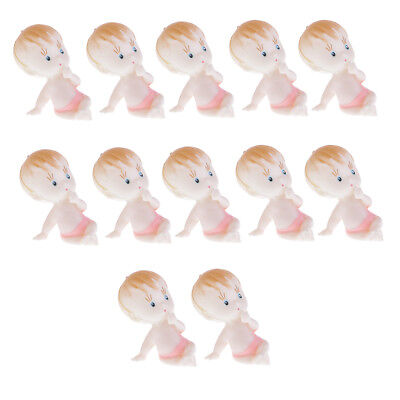 12pcs Baby Girls Boy Figures Doll Baby Shower Table Scatter Party Bag Filler