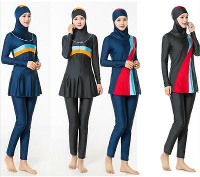 ffb799fb3d8 Modest Womens Muslim Swimwear Swimsuit Full Cover Islamic Beachwear Arab  Burkini