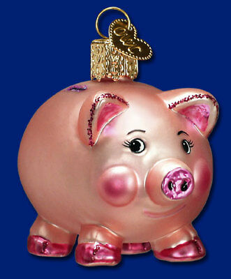 """Piggy Bank"" (36061)X Old World Christmas Ornament w/ OWC Box"