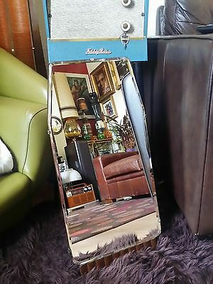 Vintage 1940's 50's Bevelled Edged free standing Dressing Table Mirror Art Deco