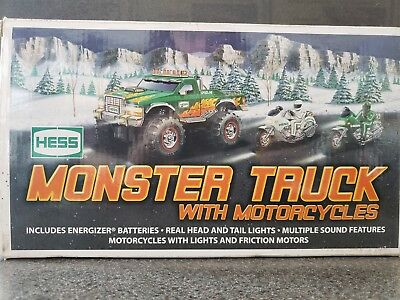 2007 Hess Monster Truck with Motorcycles- New in Box