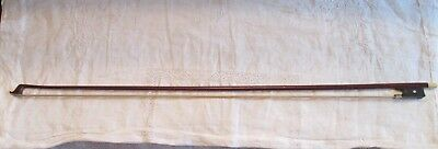 Old Violin Bow Silver Mounted Marked VXI