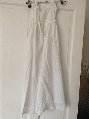 Vintage Cotton  Lawn baby christening gown With Lace Broderie Anglaise