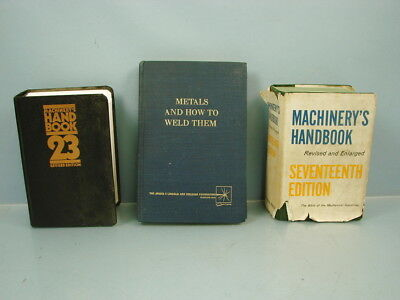 Lot of 3 Vintage Machinery's Handbooks 17th and 23rd Edition and Welding Book