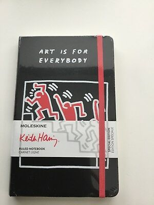 New Sealed Moleskine Secial Edition Keith Haring Lined Carnet Ligne