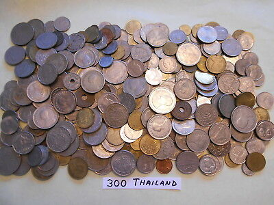World Coin Lot:  300 Foreign Coins from Thailand